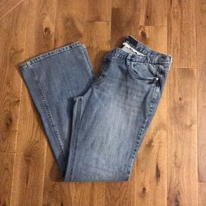 Mossimo size 12 distressed boot cut jeans.